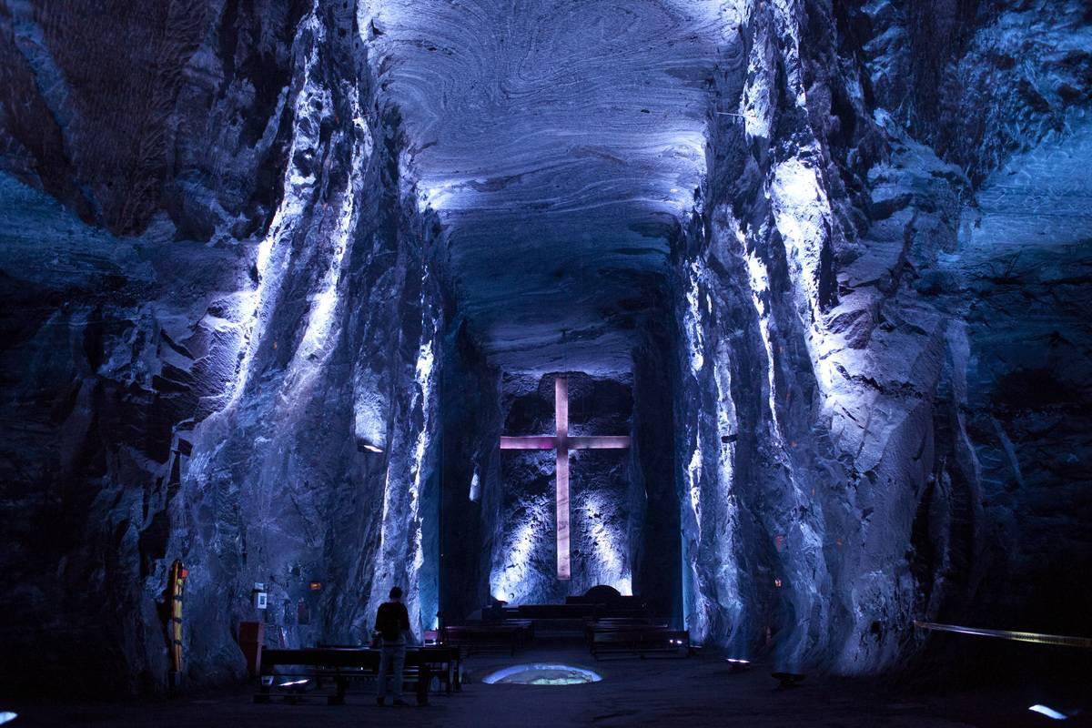 Zipaquirá Salt Cathedral in colombia