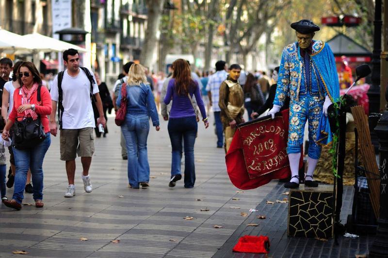 barcelona las ramblas street