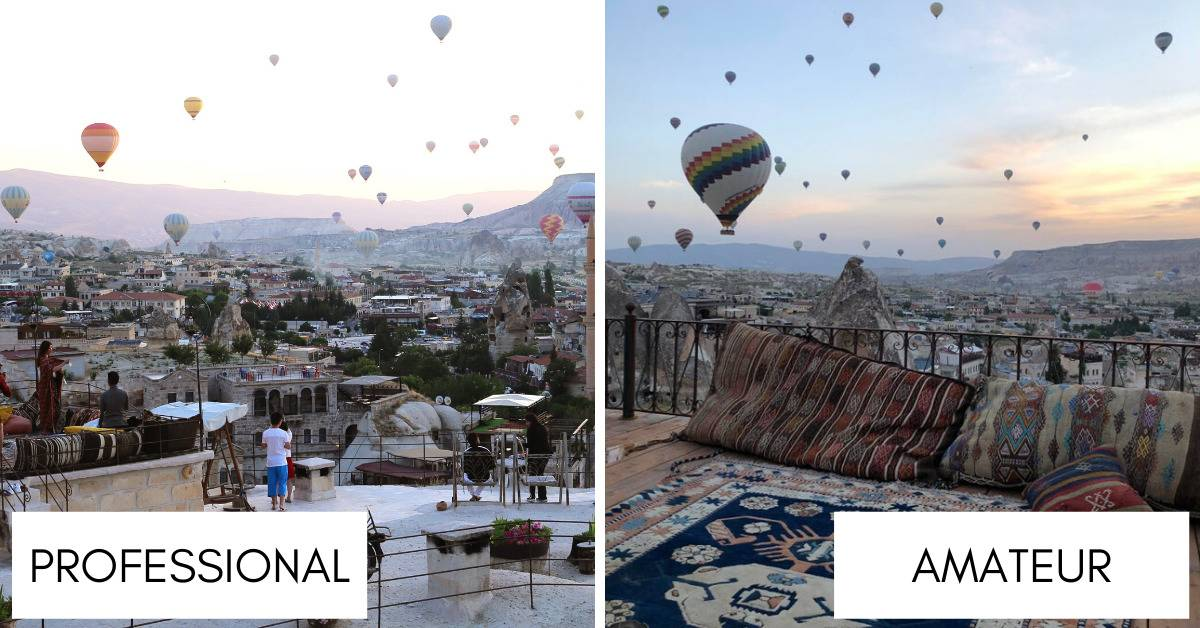 balloons in the sky in Cappadocia, Turkey