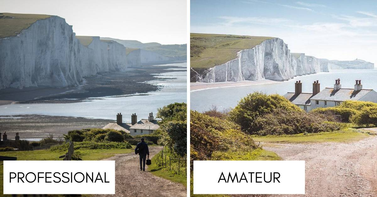 photographs of seven sisters white cliffs, UK