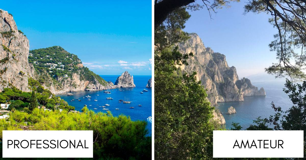 photos taken of the cliffs along the island of capri
