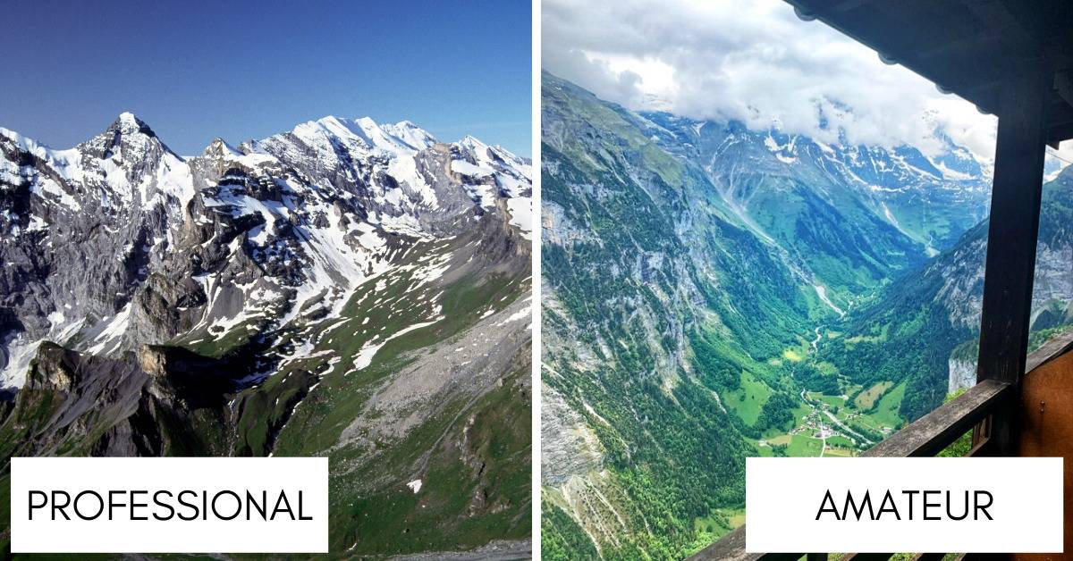 respective photos of swiss alps