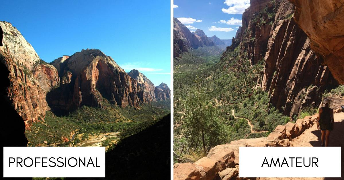 photos of angels landing cliffs in the canyon in Zion National Park