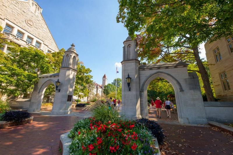 sample gates at indiana university in Bloomington, Indiana