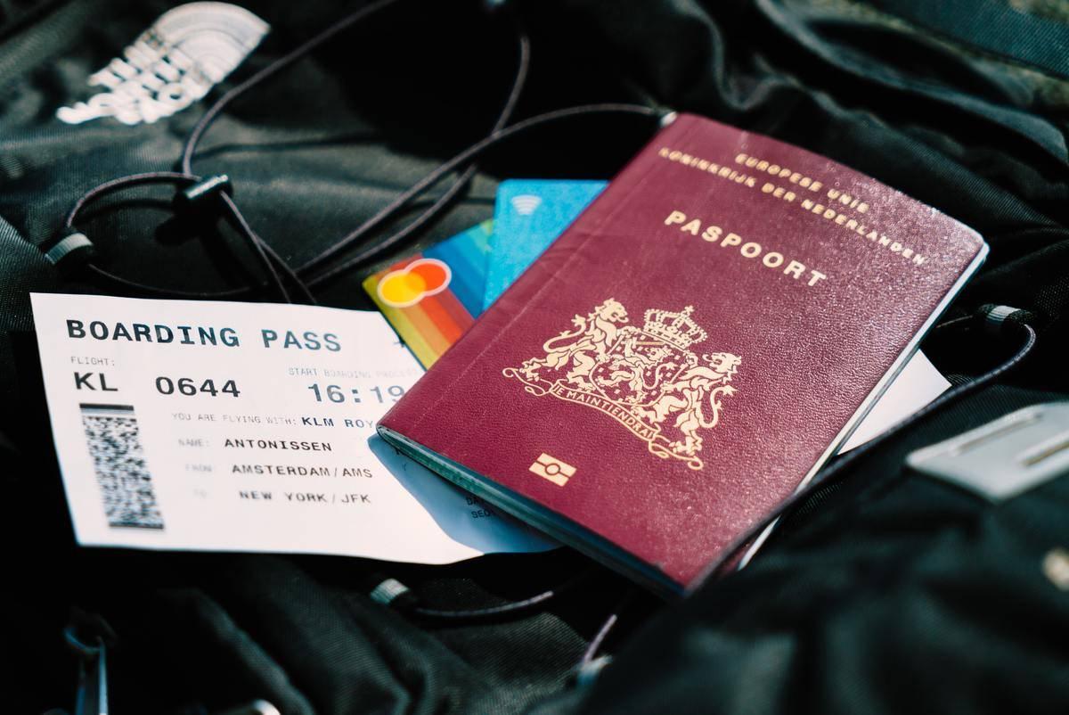 passport and boarding pass photo