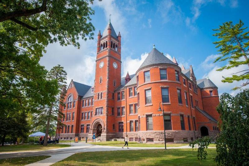 an old orange building at Gettysburg College in Gettysburg, Pennsylvania