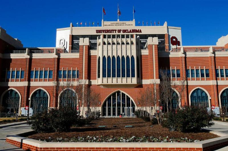 the gaylord family oklahoma memorial stadium at the university of oklahoma in Norman, Oklahoma