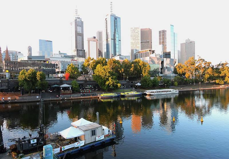 city shot of melbourne australia