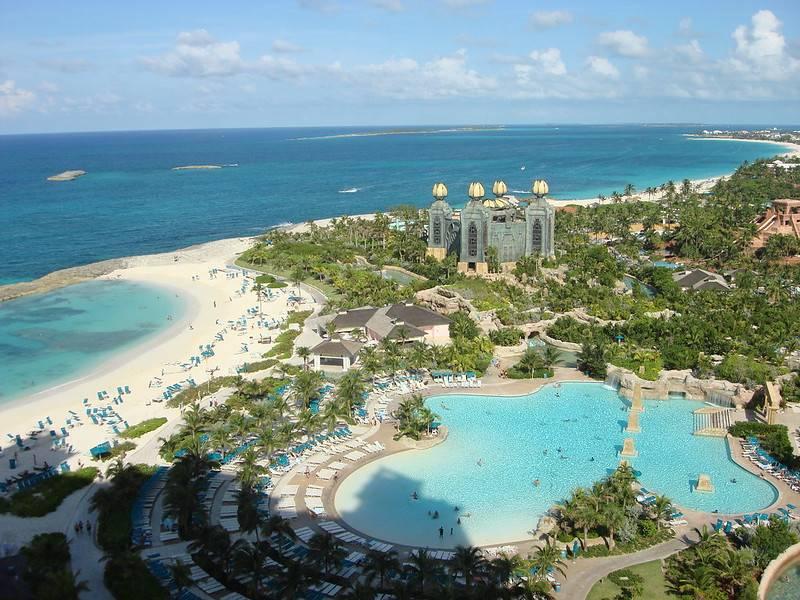 overhead shot of bahamas