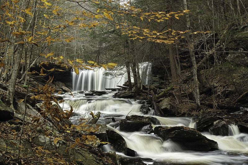 rickets glen state park waterfall