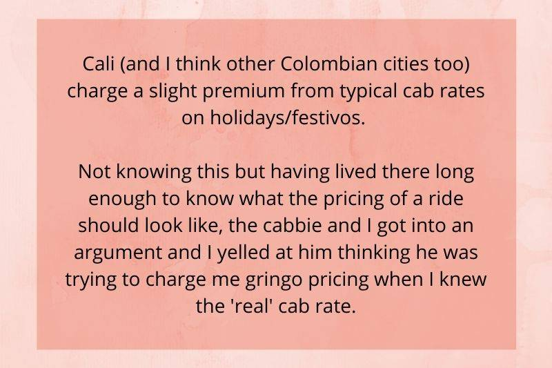 someone didn't know that they charge a premium during holidays for a taxi ride