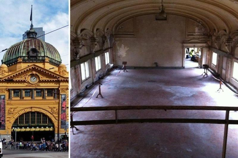 a secret ballroom in a train station