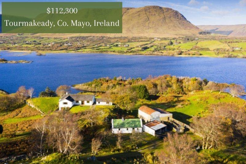 a big farm property on the water in Ireland