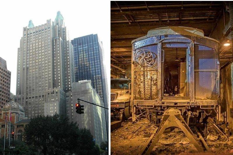 a train station hidden under the Waldorf Astoria