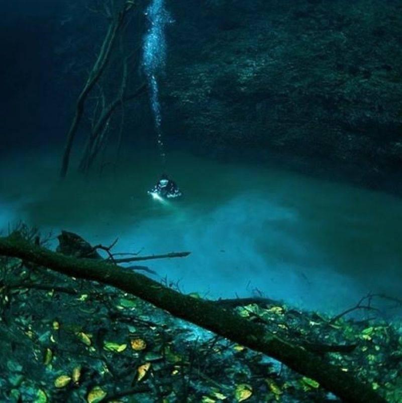 an underwater river