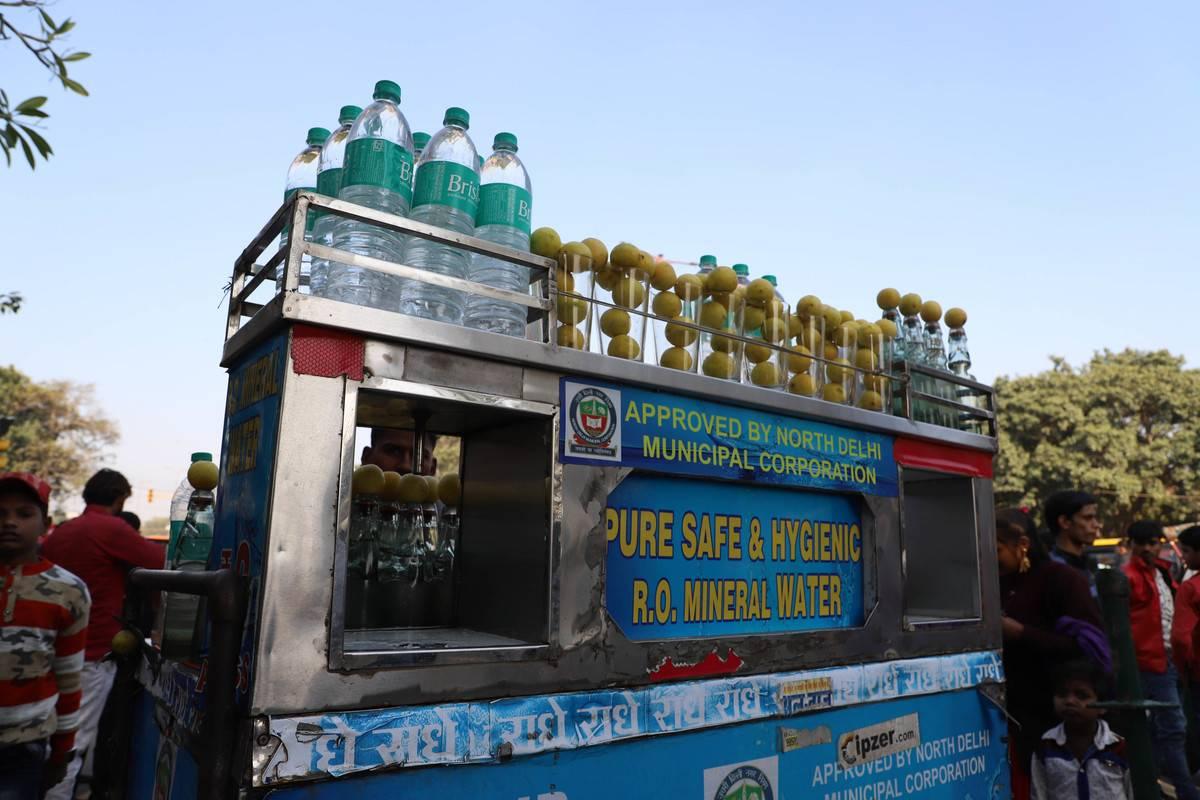 new delhi water vendor