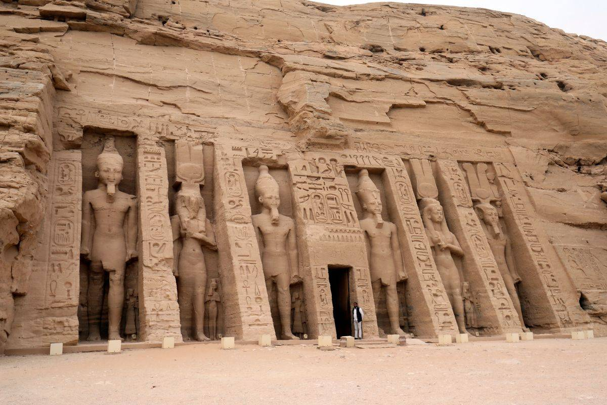 temple of Hathor and Nefertari, also known as the Small Temple, in Abu Simbel
