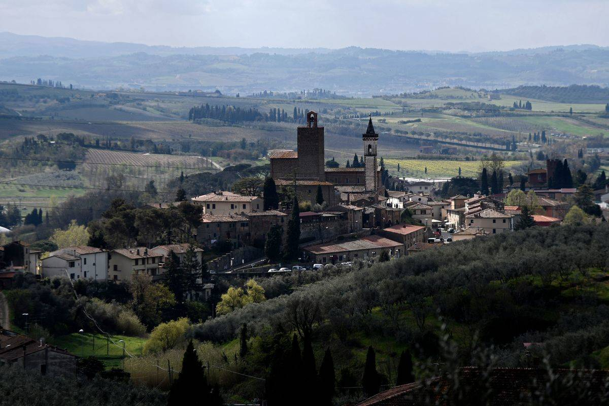 tuscan village in italy