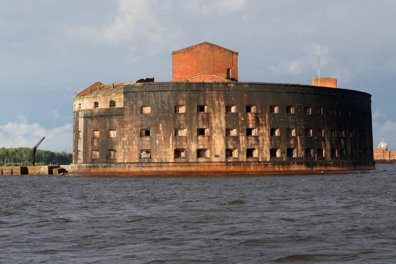 abandoned fort alexander in st petersburg russia