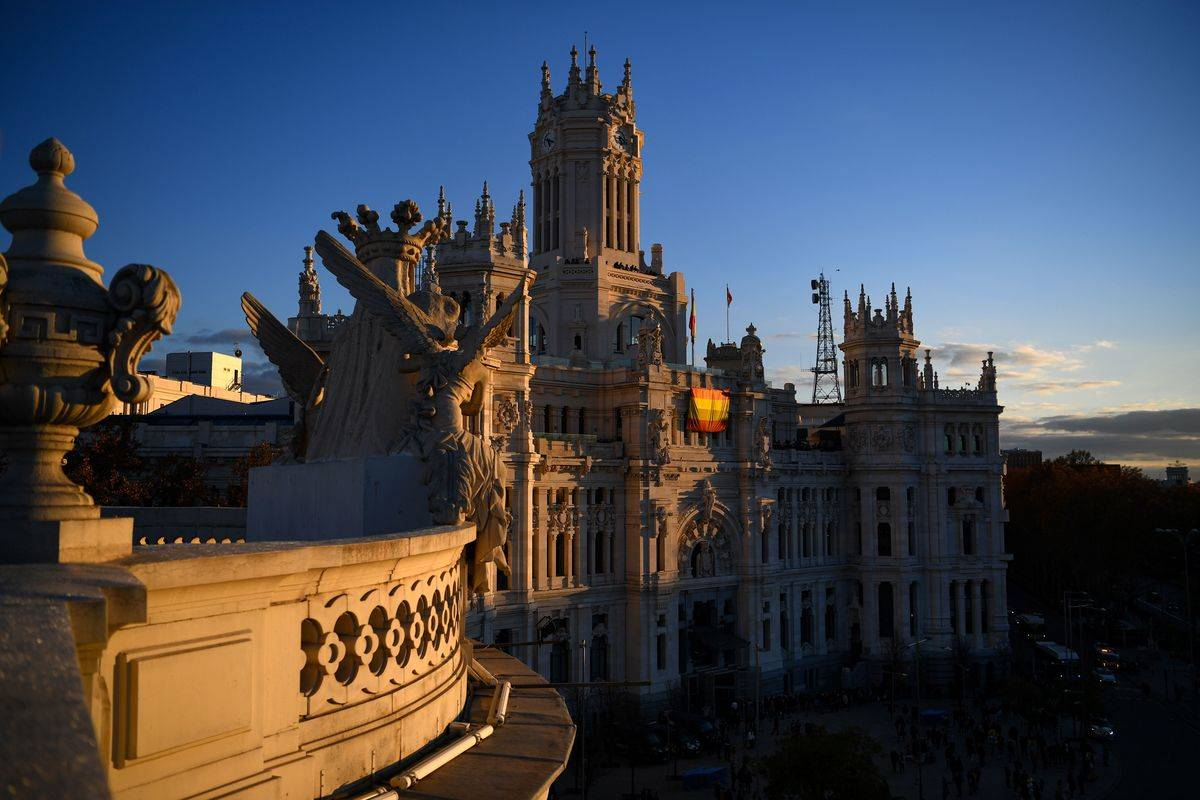 General view of the city hall of Madrid