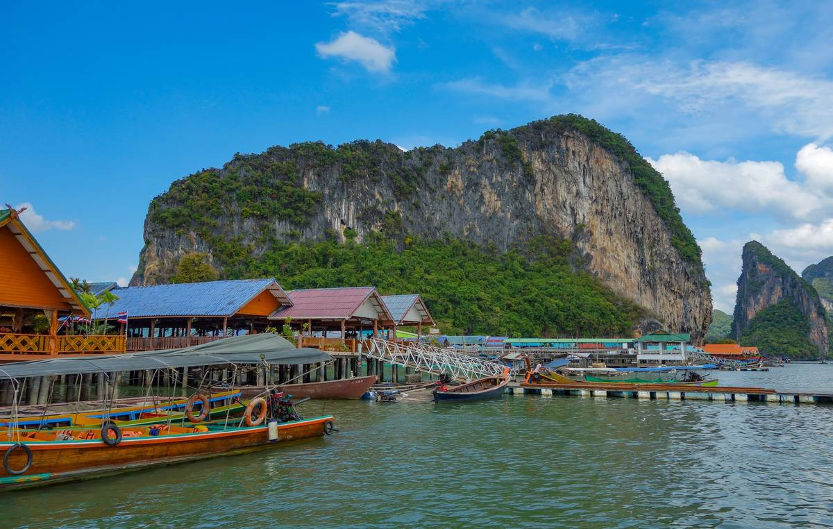 harbor of Ao Phang Nga National park thailand