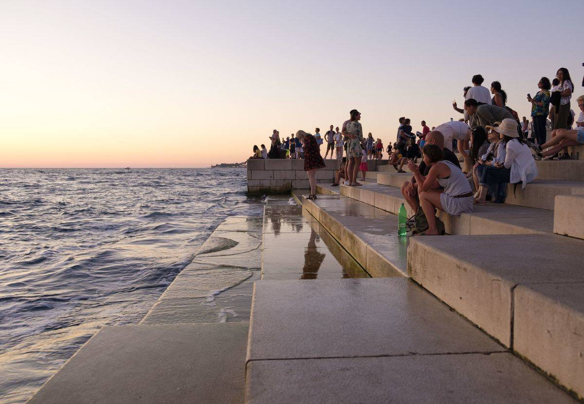 sea organ in zadar croatia