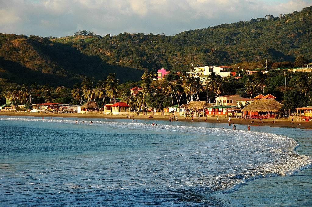 the coast of San Juan del Sur
