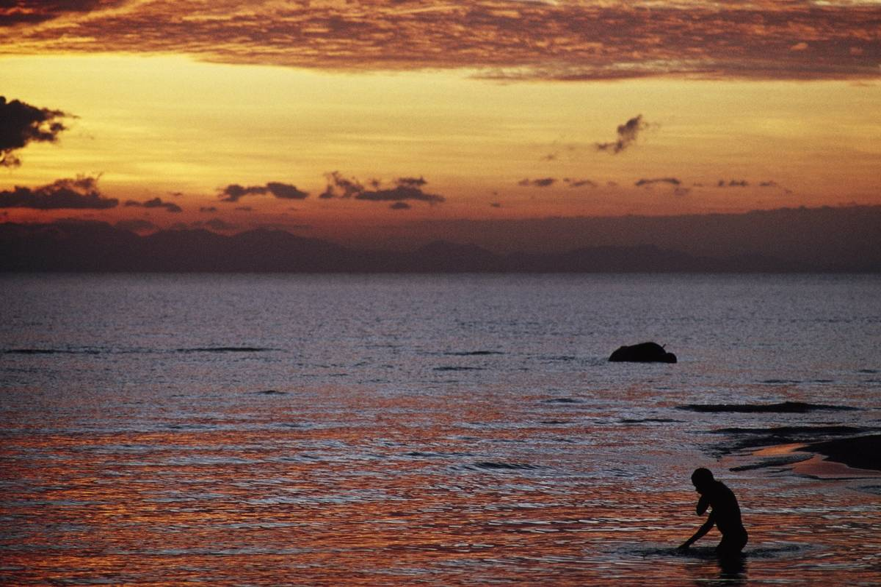 Clouds at dawn on Lake Malawi,