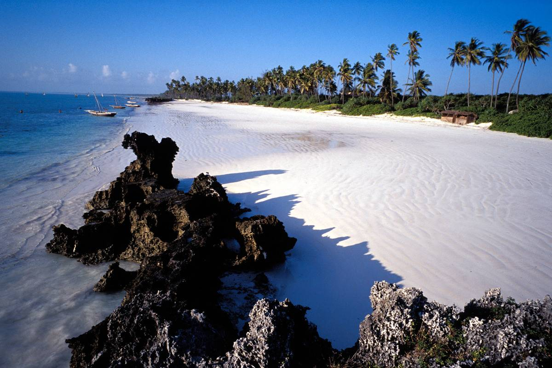 gorgeous beach with white sand