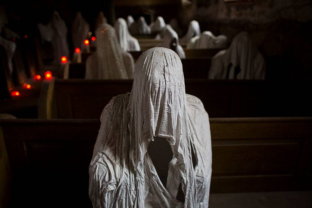 ghost statues in St George's Church
