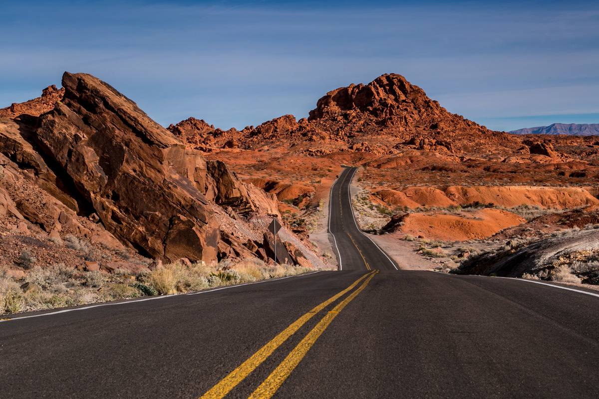 valley of fire park nevada road