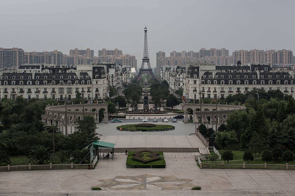 the city of Tianducheng that was built to look like Paris