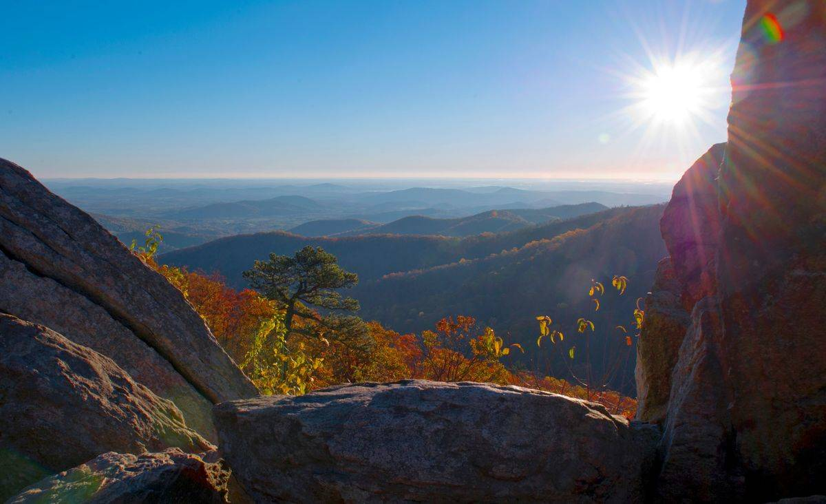 virginia view from skyline drive