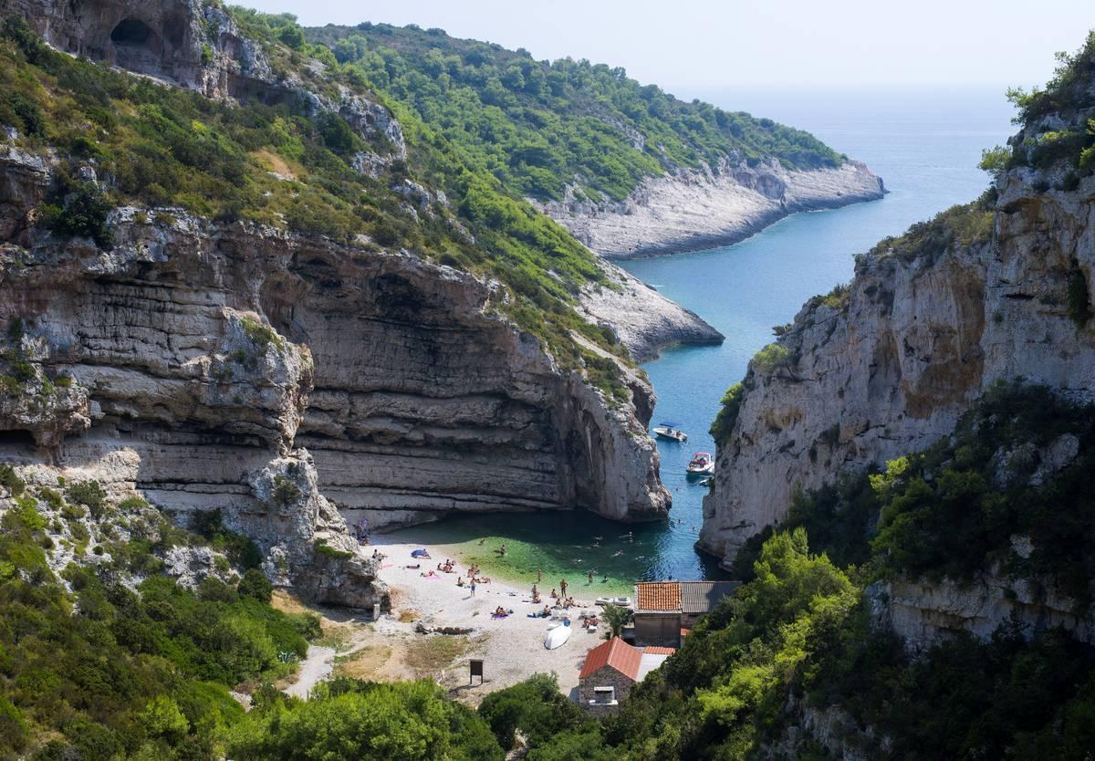 island of vis croatia beach