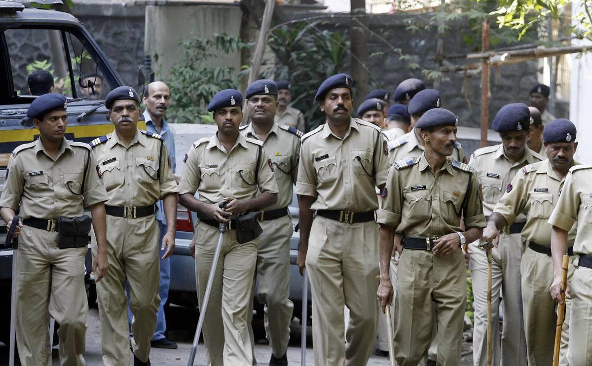 police in mumbai india in streets