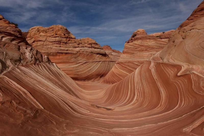 the wave rock formation arizona