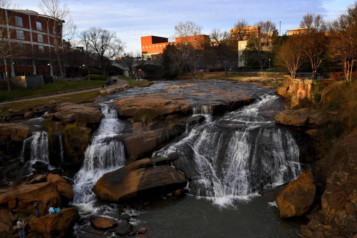 greenville south carolina falls park downtown