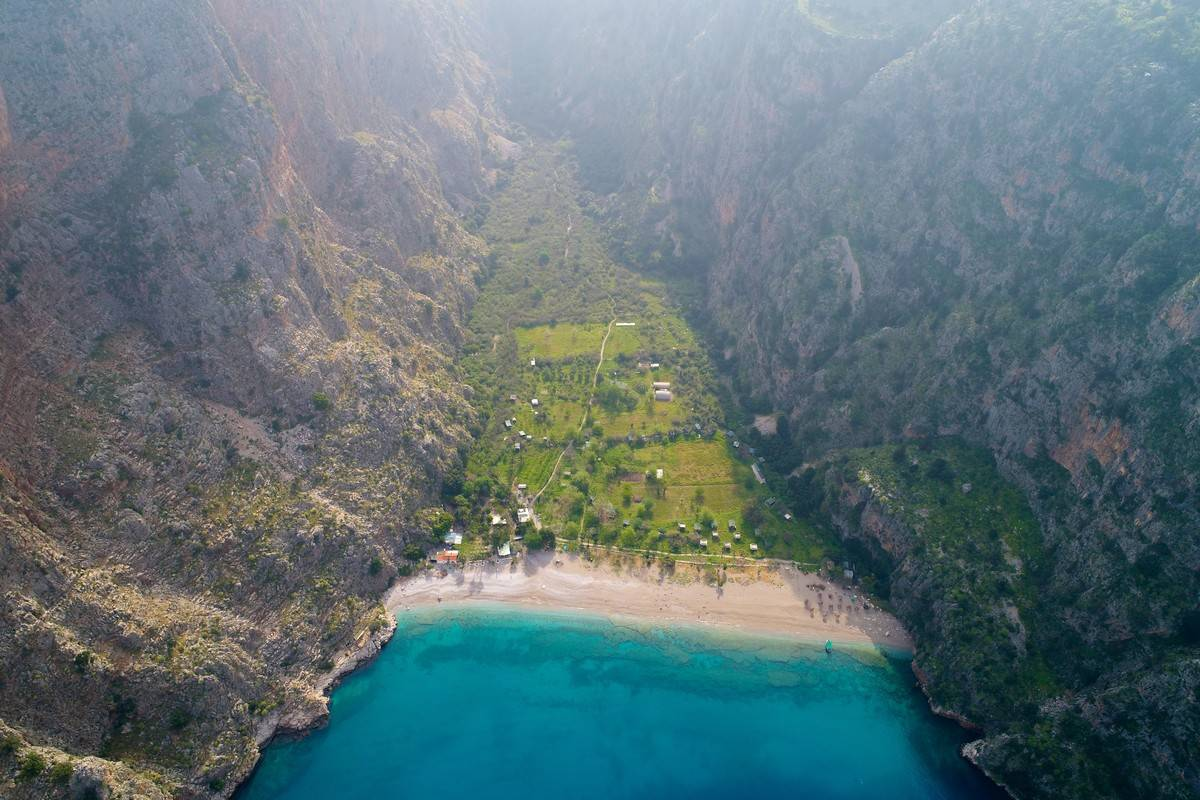 butterfly valley cove turkey beach