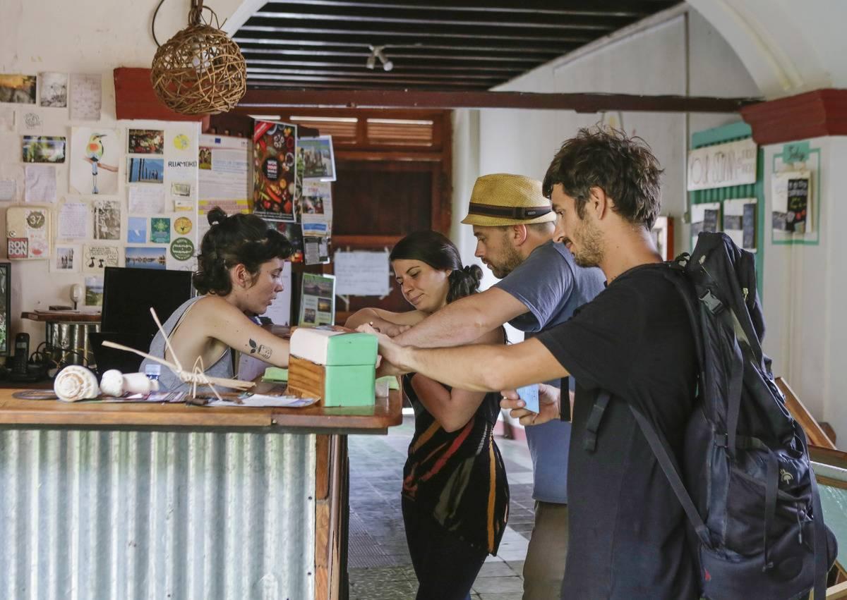 check in at hostel in granada