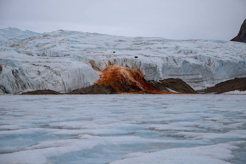 Blood Falls in Antarctica