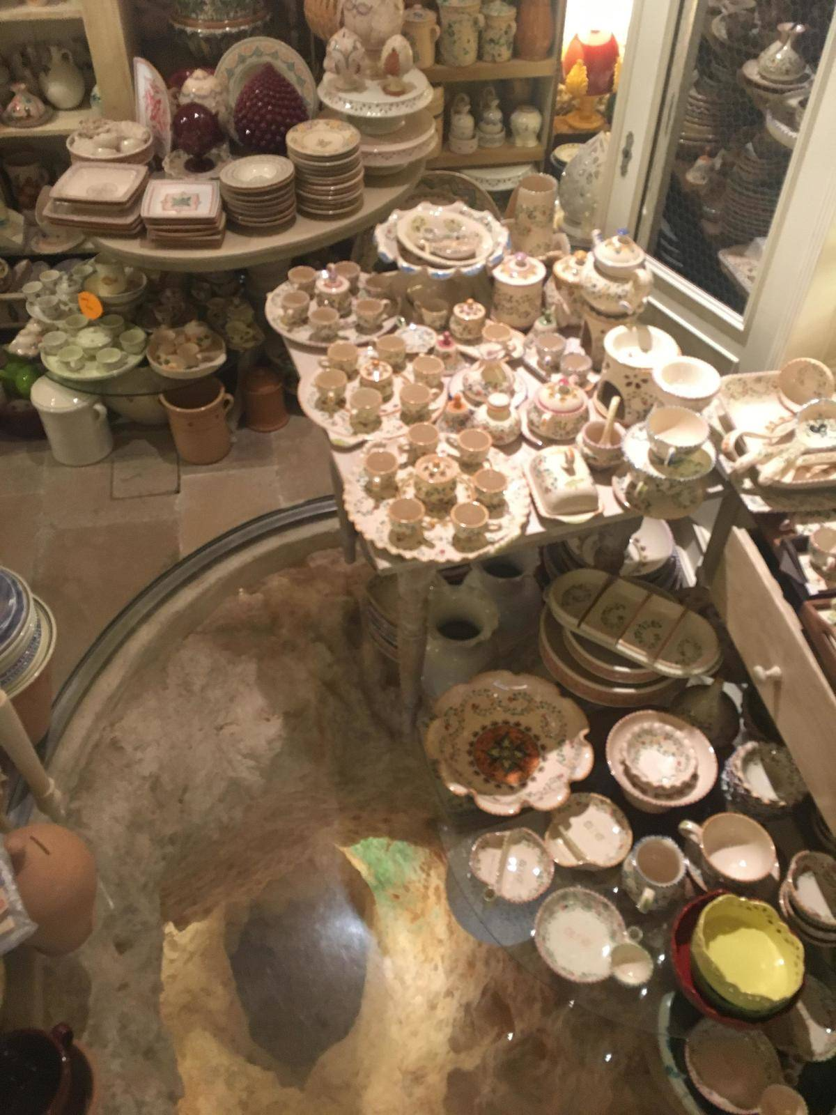 store selling glass items in cave
