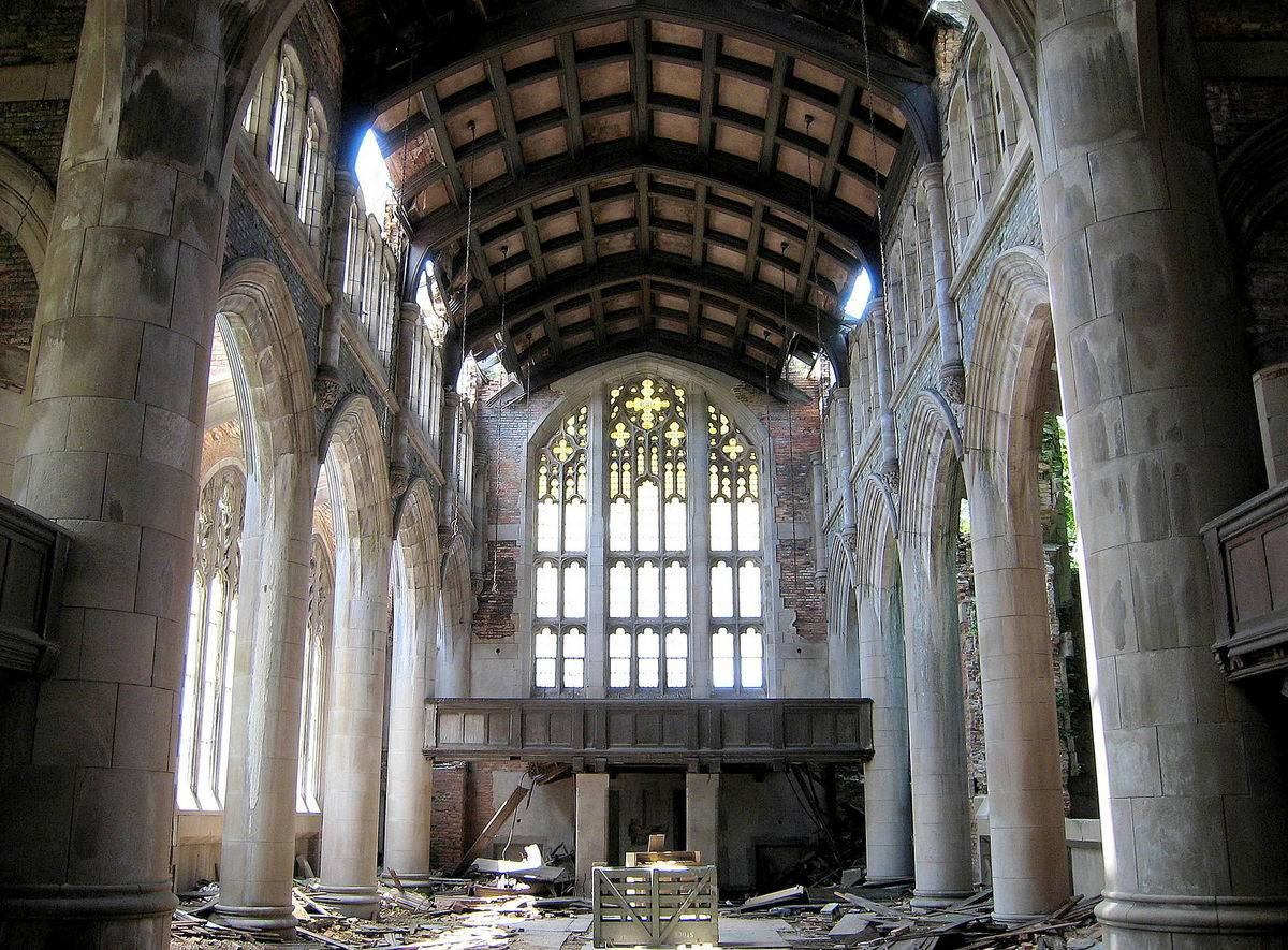 a picture of the main hall in City Methodist Church