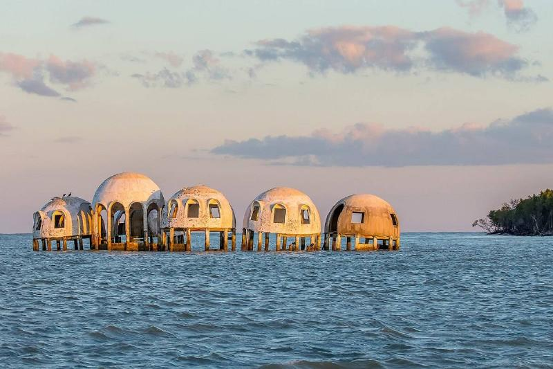 a picture of the Cape Romano Dome House