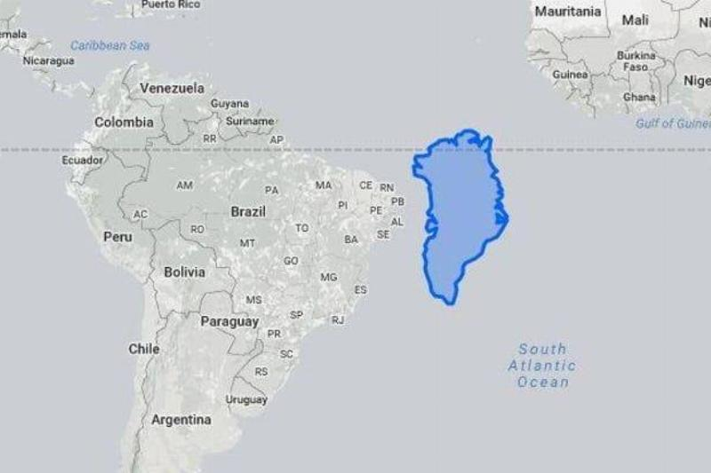 Greenland Looks Tiny Next To South America