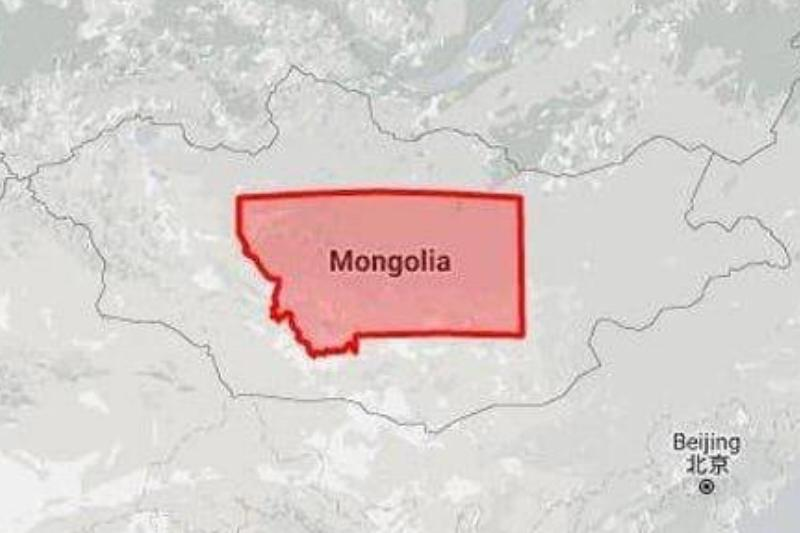 Montana Fits Perfectly Inside Mongolia