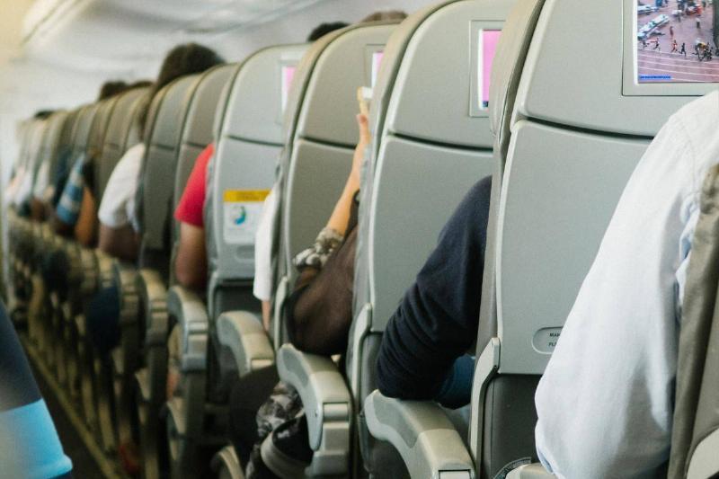 plane aisle seat view