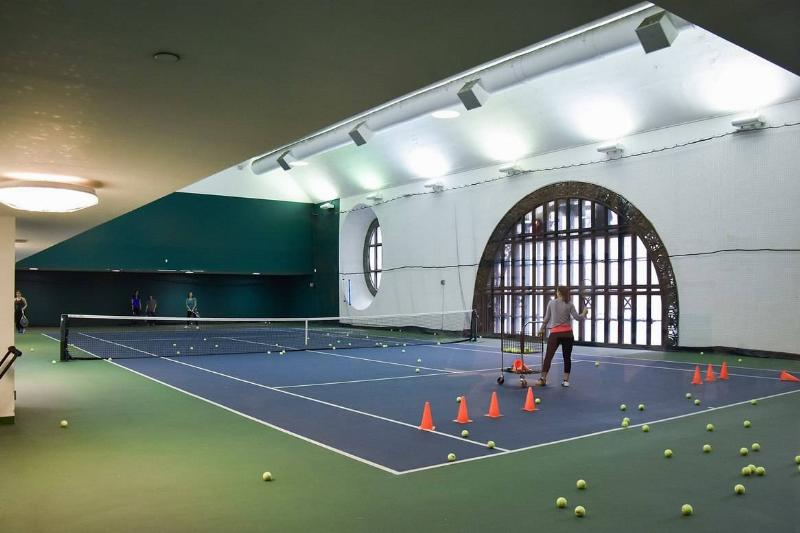 tennis court in Grand Central Station