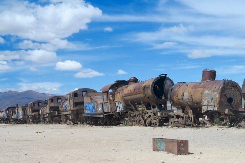 trains in the Train Graveyard in Bolivia