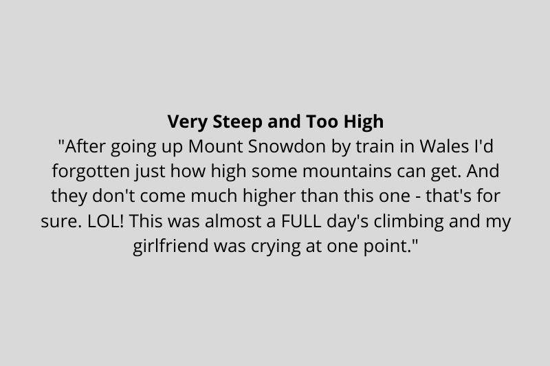 someone thought Ben Nevis was too steep