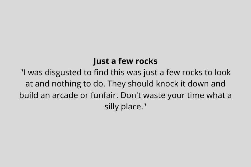 someone made about Stonehenge being a bunch of rocks